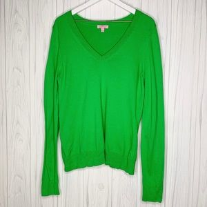 Lilly Pulitzer Nancy Grass Green M Sweater